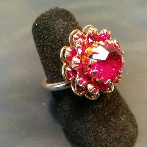"""Stamped """"Sarah Coventry"""" Fashion Ring - Size 5"""
